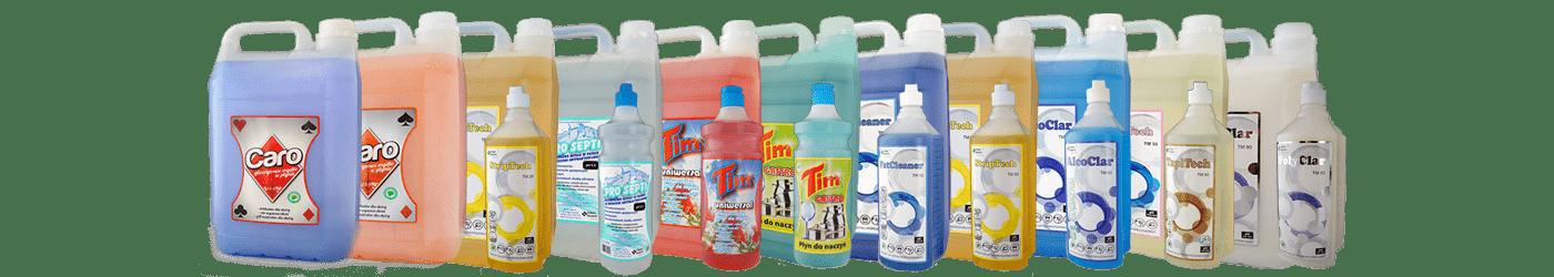 Preparaty, płyny do czyszczenia